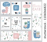 hand drawn cute card with...   Shutterstock .eps vector #1106066822