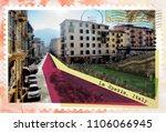 la spezia  italy  retro... | Shutterstock . vector #1106066945
