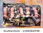 town lucca  retro postcard | Shutterstock . vector #1106066948