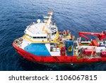 supply boat transfer cargo to... | Shutterstock . vector #1106067815