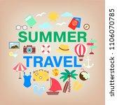 summer travel icon set....   Shutterstock .eps vector #1106070785