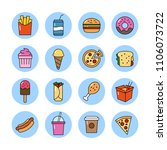 collection of vector icons... | Shutterstock .eps vector #1106073722