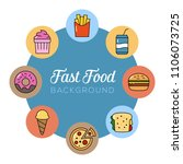 fast food background. can... | Shutterstock .eps vector #1106073725
