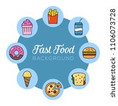 fast food background. can... | Shutterstock .eps vector #1106073728
