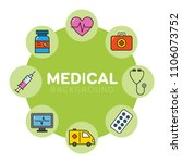 medical background with icons   ... | Shutterstock .eps vector #1106073752