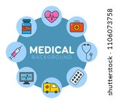 medical background with icons   ... | Shutterstock .eps vector #1106073758
