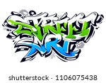 vibrant color street art... | Shutterstock .eps vector #1106075438