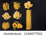 various pasta spoons. cooking... | Shutterstock . vector #1106077502