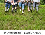 group of students sitting on... | Shutterstock . vector #1106077808