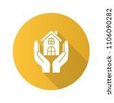 affordable housing flat design... | Shutterstock .eps vector #1106090282