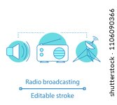 radio broadcasting concept icon....   Shutterstock .eps vector #1106090366