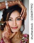 portrait of beautiful hindu... | Shutterstock . vector #1106097992