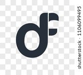 df fd vector icon isolated on... | Shutterstock .eps vector #1106099495