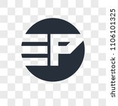 ep pe vector icon isolated on... | Shutterstock .eps vector #1106101325