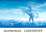 water horse out of water...   Shutterstock . vector #1106104145