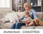 happy beautiful business mom...   Shutterstock . vector #1106107826