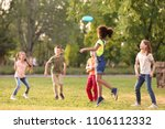 cute little children playing... | Shutterstock . vector #1106112332