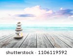 stack of pebble stones and... | Shutterstock . vector #1106119592