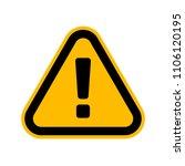 hazard warning attention sign ... | Shutterstock .eps vector #1106120195