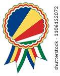 seychelles award ribbon vector... | Shutterstock .eps vector #1106132072