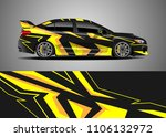 car decal vector  graphic... | Shutterstock .eps vector #1106132972