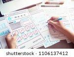 website designer creative...   Shutterstock . vector #1106137412