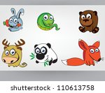 ridiculous and cheerful wood... | Shutterstock .eps vector #110613758
