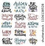 autumn handwritten lettering... | Shutterstock .eps vector #1106138528