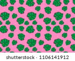 tropical leaves fashion pattern | Shutterstock . vector #1106141912