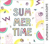 summer time typographical... | Shutterstock .eps vector #1106142695