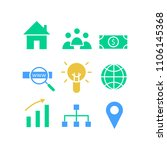 vector of icons of business ...