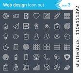 modern  stroked web design  seo ... | Shutterstock .eps vector #1106151392