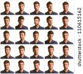 set of eye expression | Shutterstock . vector #110615162