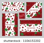 red currants berries pattern a5 ...   Shutterstock .eps vector #1106152202