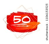 50th anniversary. red and... | Shutterstock .eps vector #1106153525