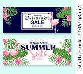 summer sale on pineapple... | Shutterstock .eps vector #1106153552