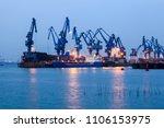 port industrial zone   Shutterstock . vector #1106153975