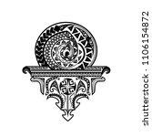 tattoo tribal vector designs.... | Shutterstock .eps vector #1106154872