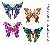 bright colorful butterflies.... | Shutterstock .eps vector #1106155472