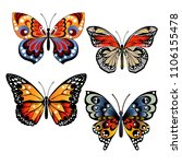bright colorful butterflies.... | Shutterstock .eps vector #1106155478