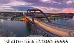 twilight panorama of... | Shutterstock . vector #1106156666
