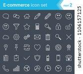 modern  stroked e commerce... | Shutterstock .eps vector #1106157125