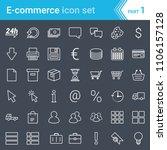 modern  stroked e commerce... | Shutterstock .eps vector #1106157128