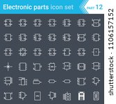 electric and electronic icons ... | Shutterstock .eps vector #1106157152