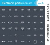 electric and electronic icons ... | Shutterstock .eps vector #1106157158