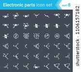 electric and electronic icons ... | Shutterstock .eps vector #1106157182