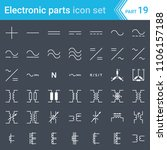 electric and electronic icons ... | Shutterstock .eps vector #1106157188