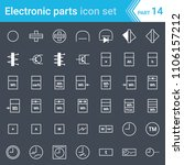 electric and electronic icons ... | Shutterstock .eps vector #1106157212