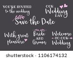 you are invited  save the date  ... | Shutterstock .eps vector #1106174132