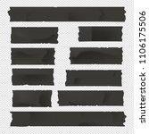 black adhesive  sticky  masking ...   Shutterstock .eps vector #1106175506